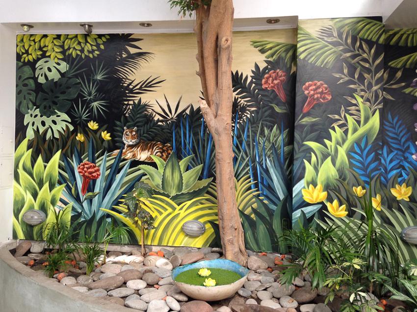 Selva mural ii lucilismo - Murales pintados en la pared ...
