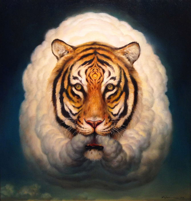 Paintings of Animals by Martin Wittfooth,www.artpeoplegallery.com | Online art gallery | ‪#‎artpeople‬